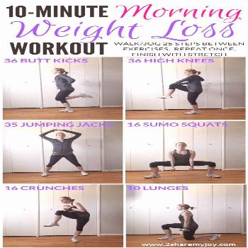 10 Minute Morning Weight Loss Workout for beginners, or intermediate that you can do at home in you
