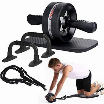 EnterSports Ab Roller Wheel, 6-in-1 Ab Roller Kit with Knee