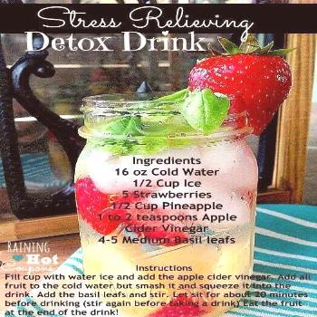 Stress Relieving Detox Drink - This always makes me feel SO much better when I drink it! I try to d