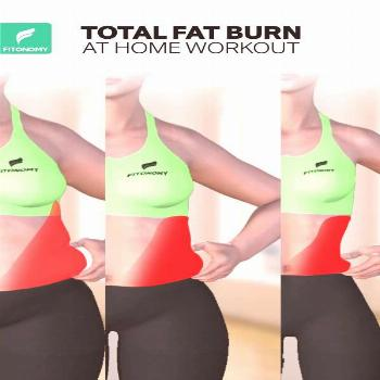 TOTAL FAT BURN AT HOME WORKOUT  Belly fat is one of the hardest part of the body to lose weight and