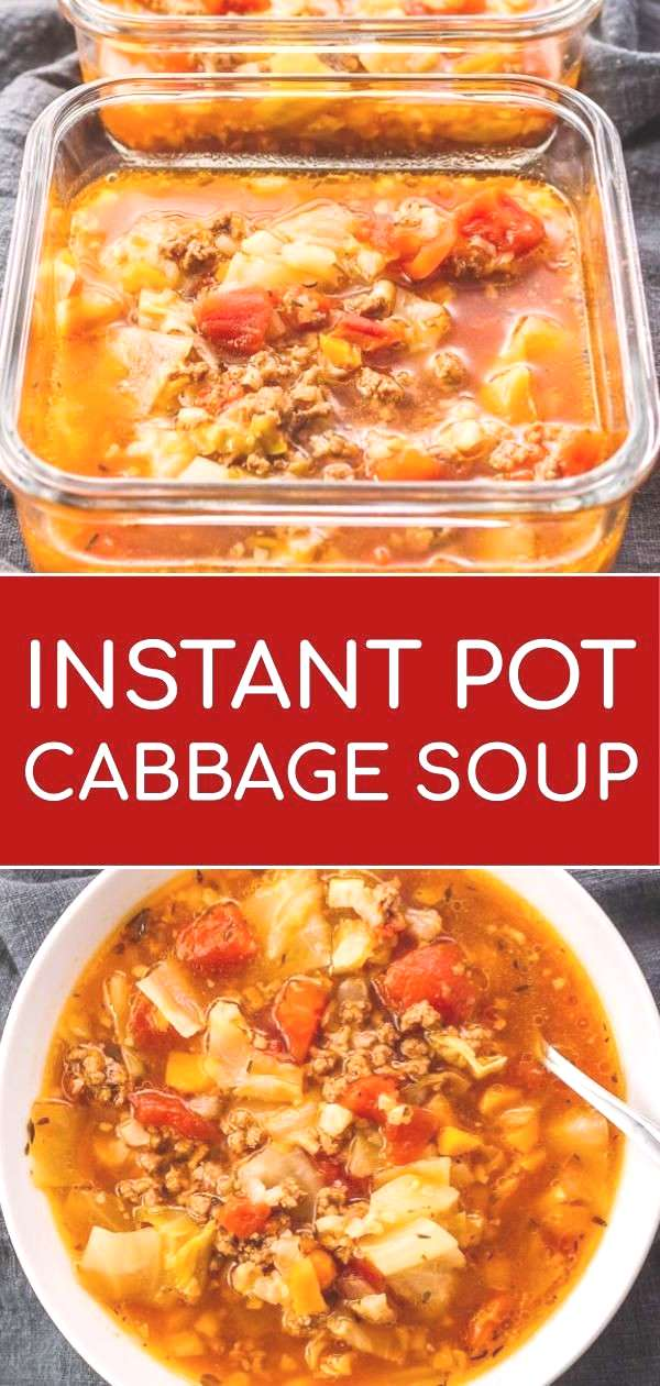 This hearty Instant Pot cabbage soup recipe with ground beef is great for anyone on a keto, low car